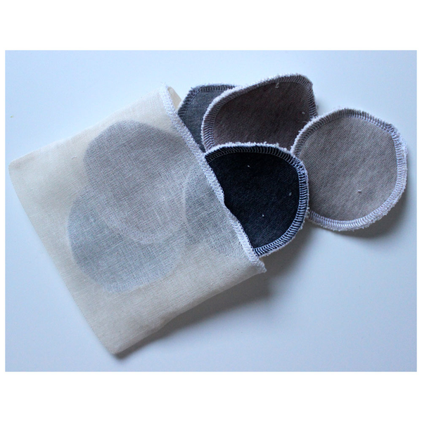 Small Reusable Organic Cleansing Pads - Set of 7