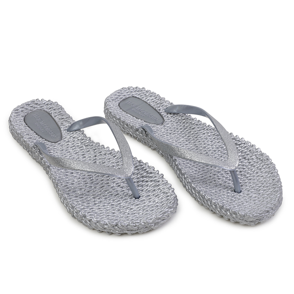 Glitter Flip Flop Cheerful - Silver