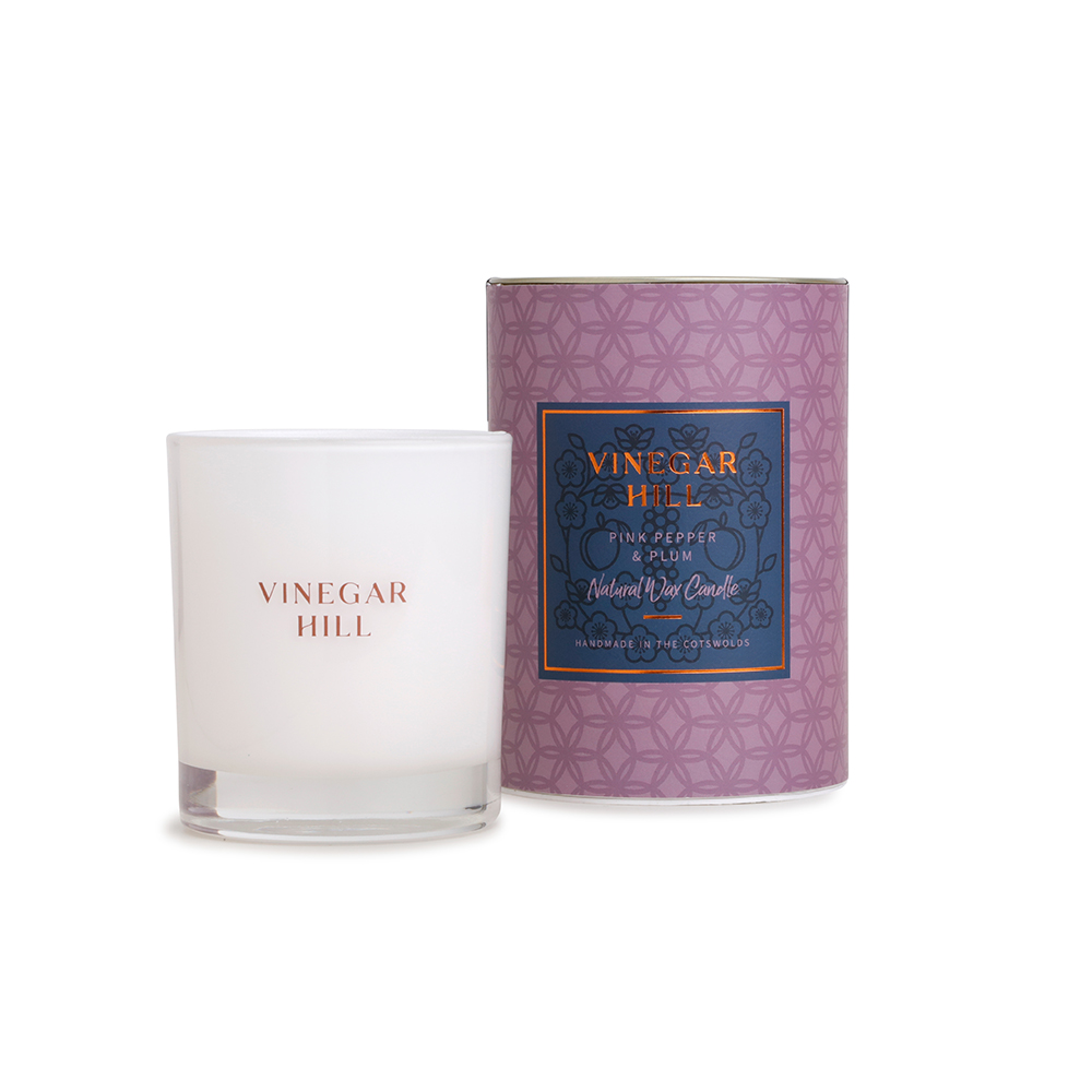Pink Pepper & Plum Natural Wax Scented Candle