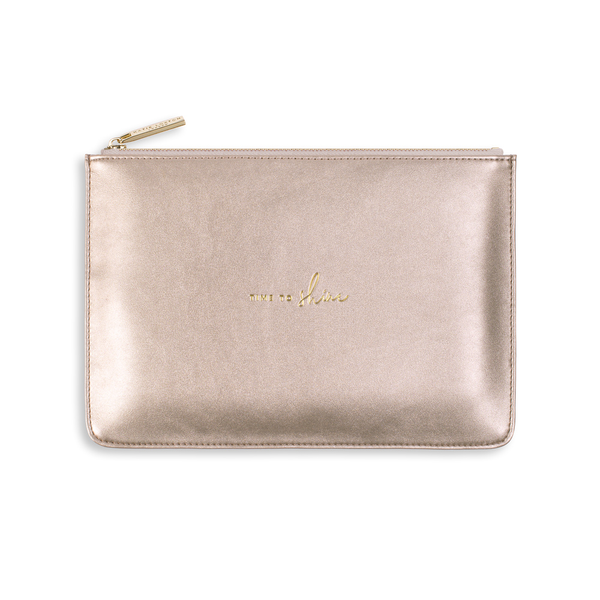 Time To Shine Pouch Metallic Rose Gold