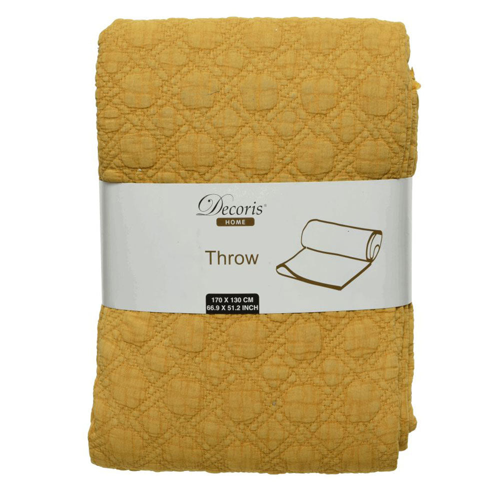 Textured Throw - Yellow