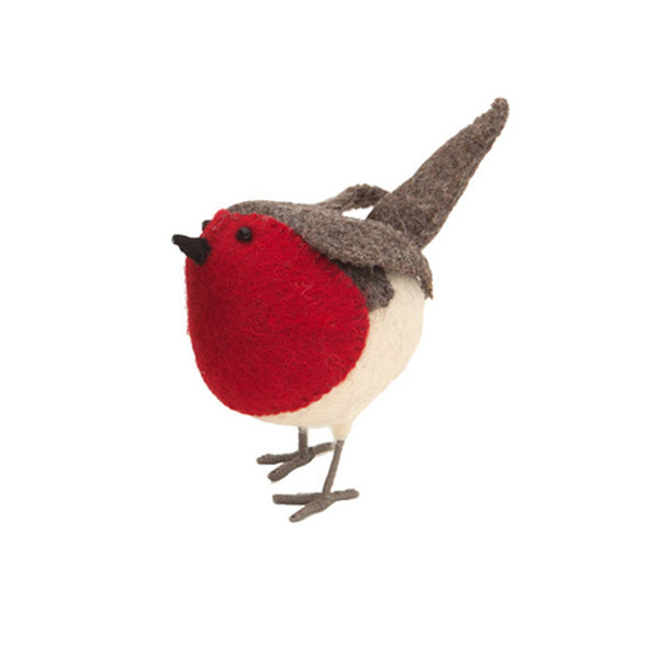 Small Standing Robin - 9cm