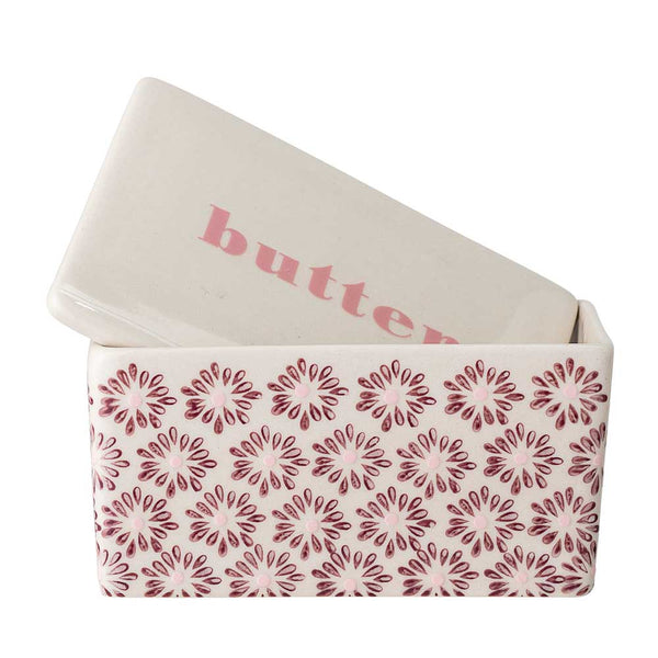 Maya Butter Dish in Berry