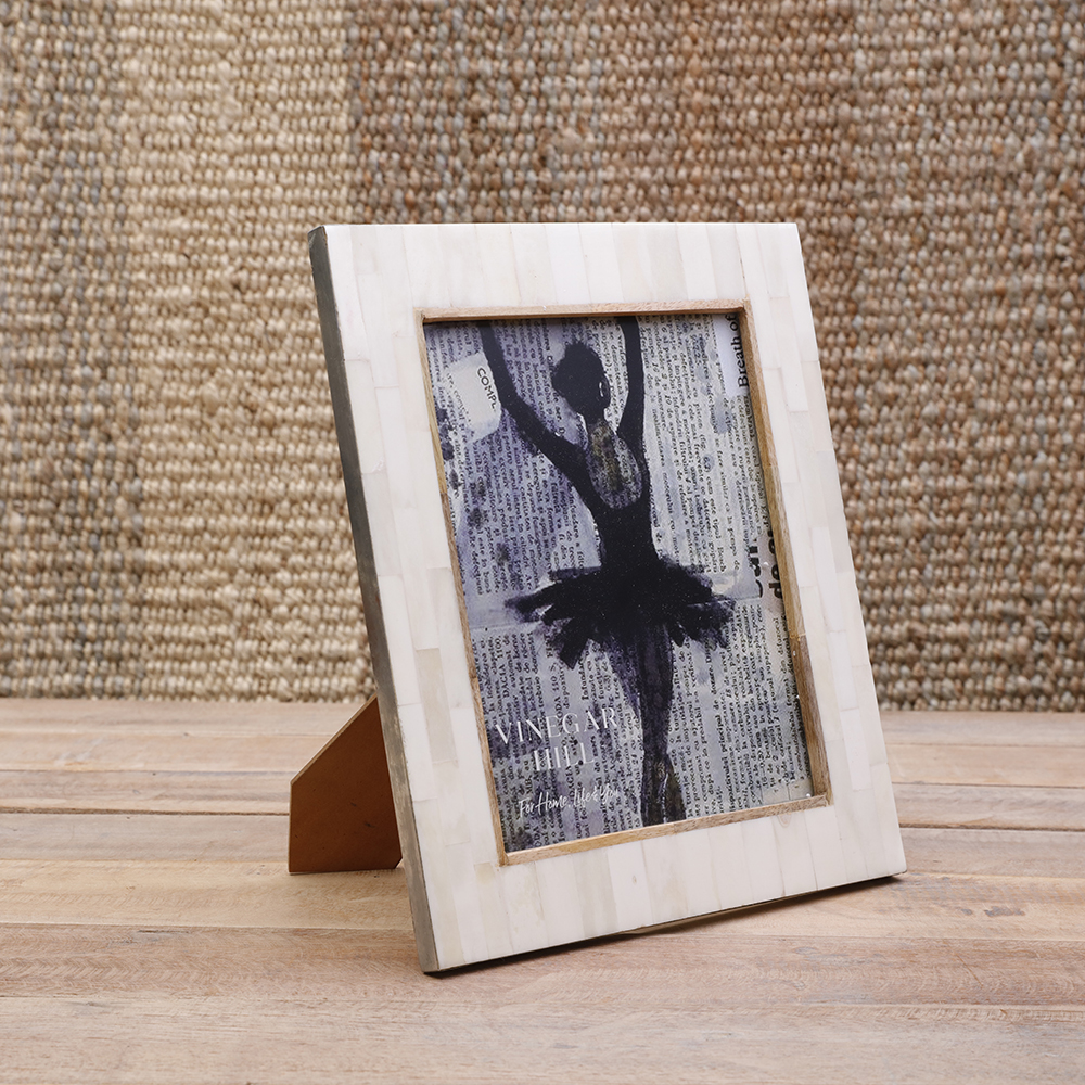 Natural White Bone Photoframe 8x10