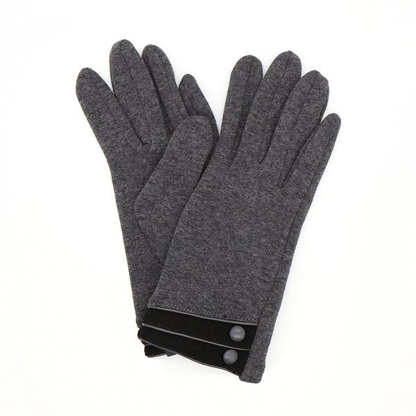 Dark Grey/Black Lined Cotton Glove