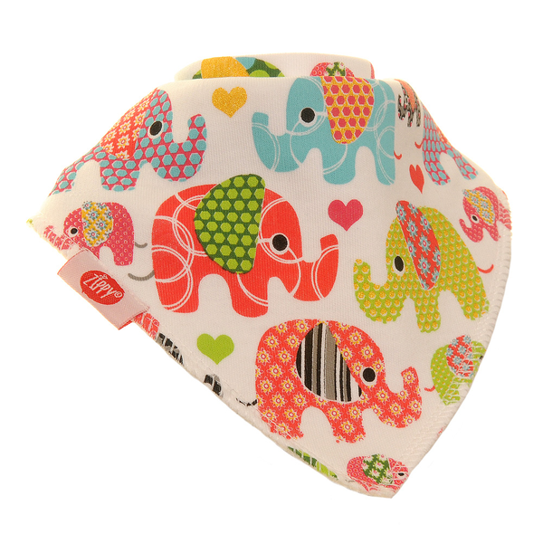 Ethnic Elephants Single Bandana Bib