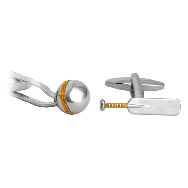 Cricket Bat & Ball Cufflinks
