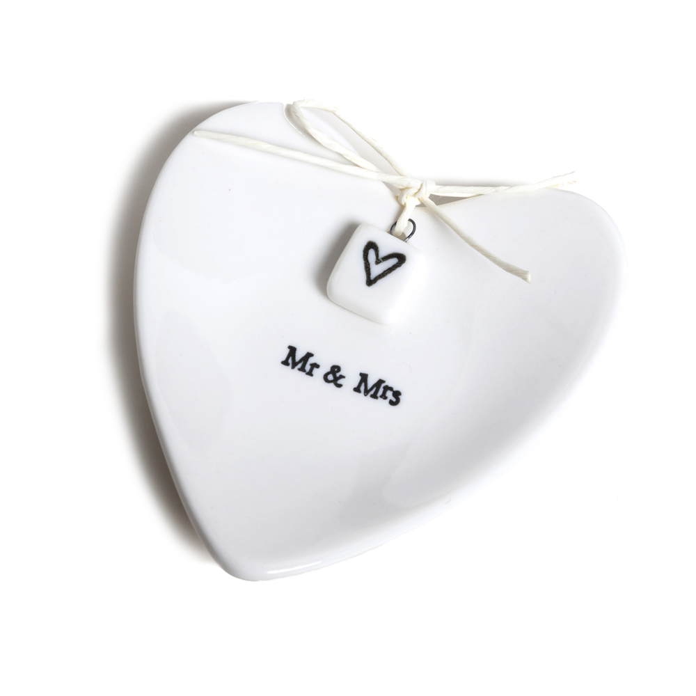 Mr & Mrs Porcelain Ring Dish