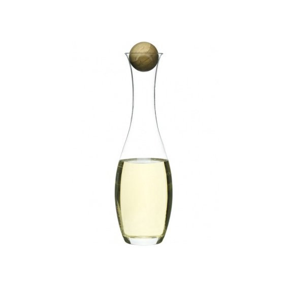 Wine/water carafe w oak stopper