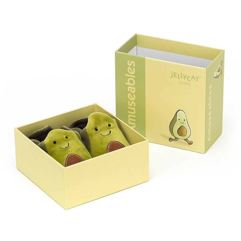 Jellycat Amuseable Avocado Booties