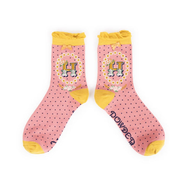 Ladies Alphabet Socks