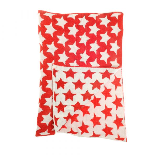 Red & White Stars Blanket