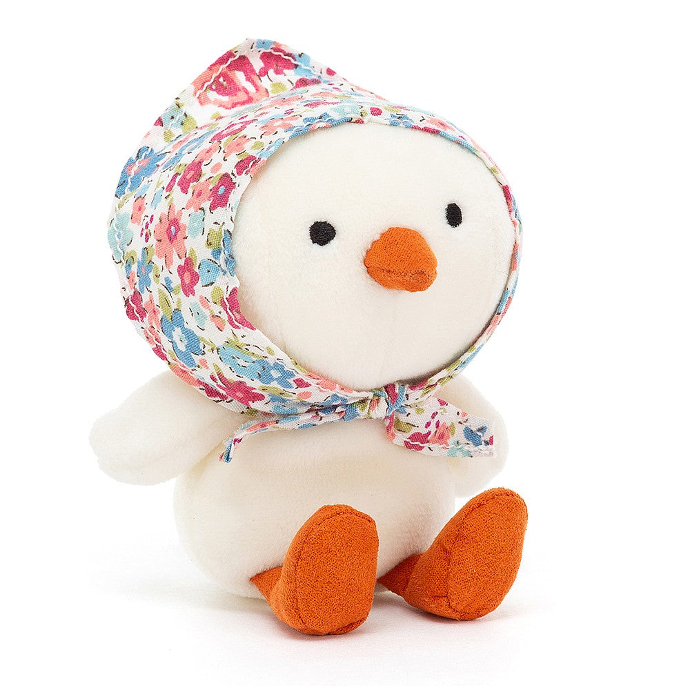Jellycat Betty Bonnet Cream Chick Soft Toy
