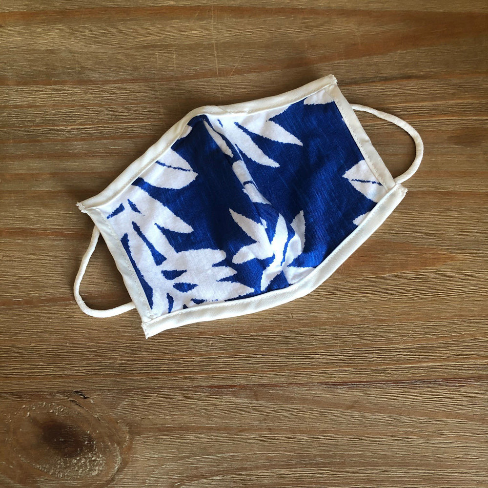 Face Mask - Blue Floral Print