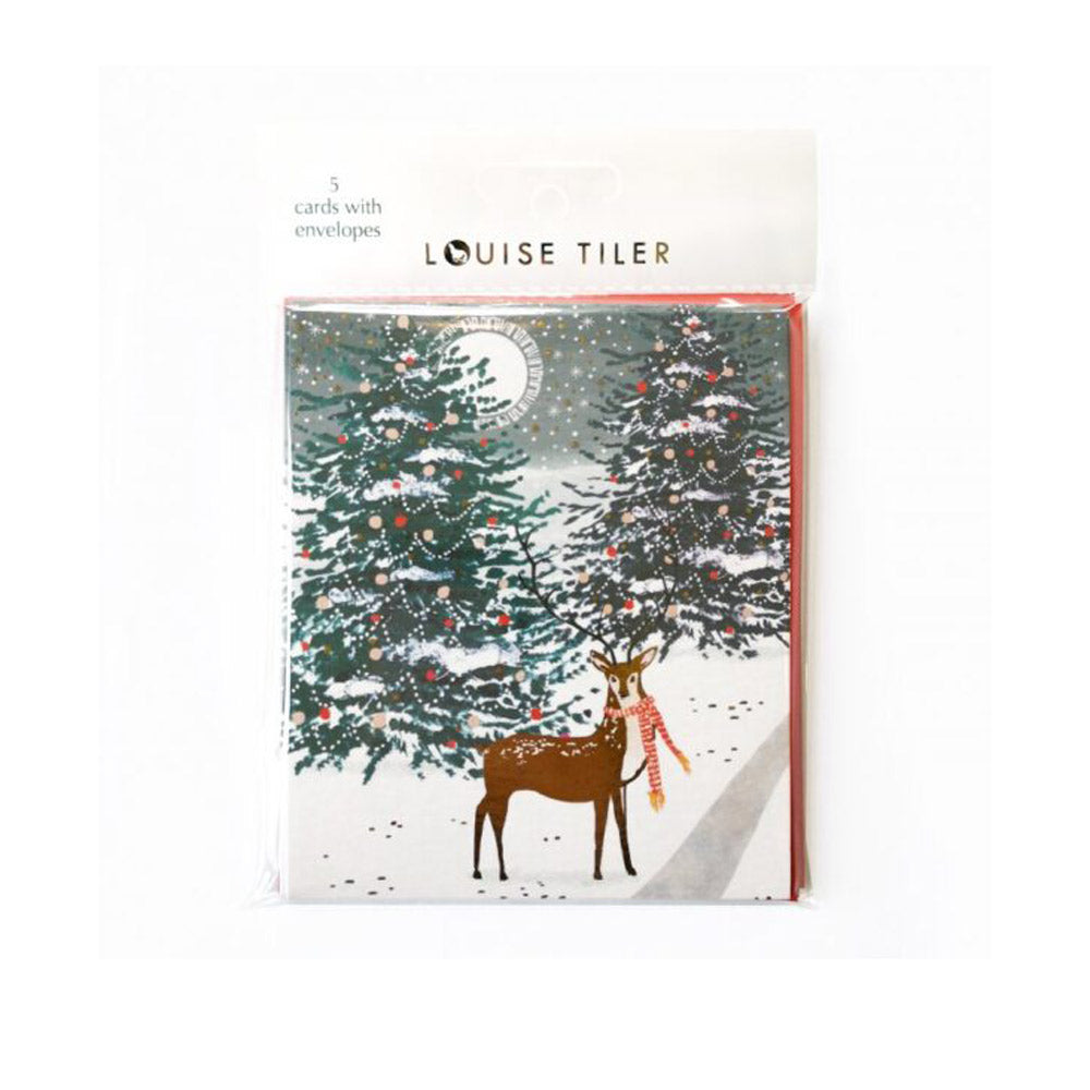 Pack of 5 Forest Deer Cards