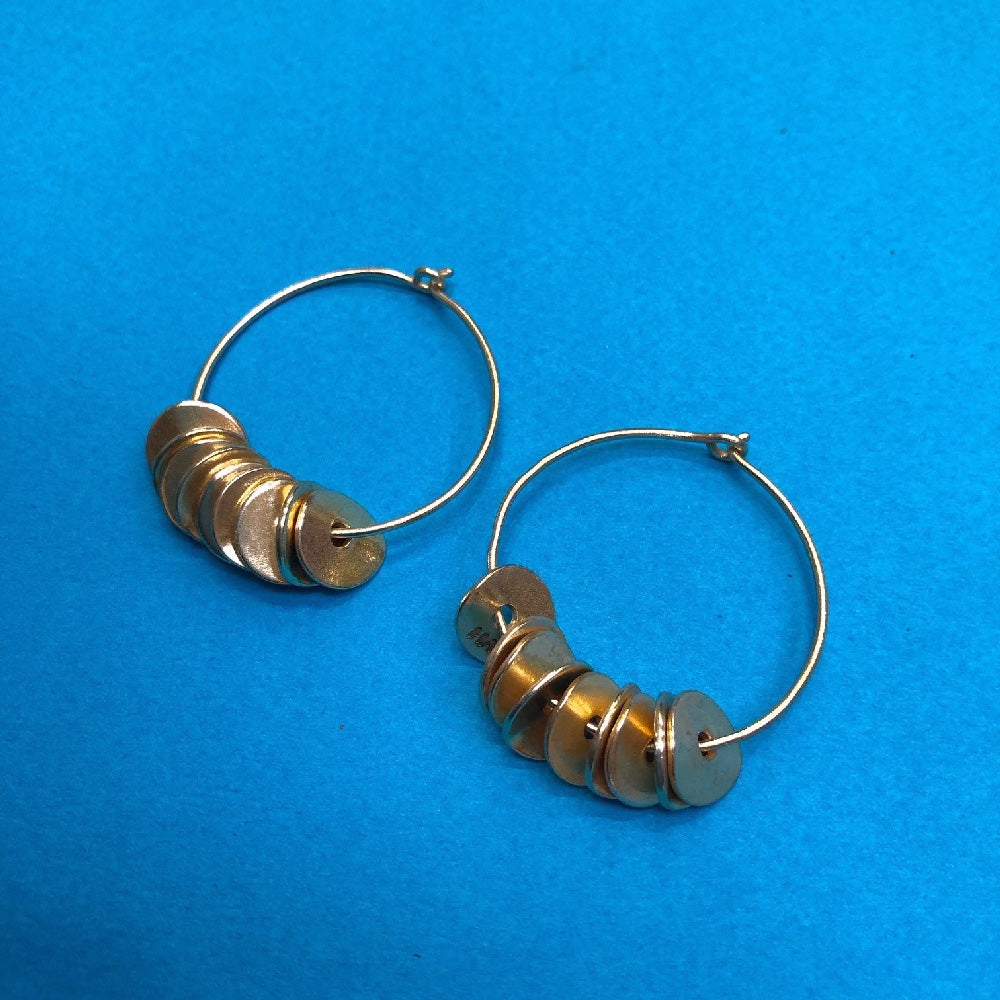 Hoop Coin Earrings