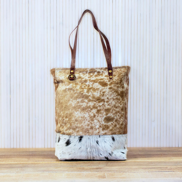 Cowhide & Leather Tote Bag