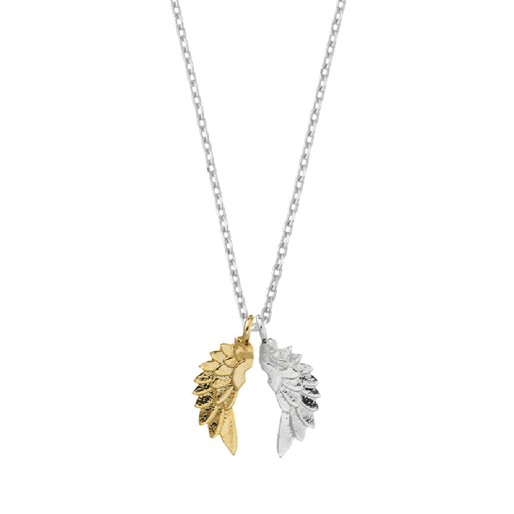 Silver Plated Wing Necklace