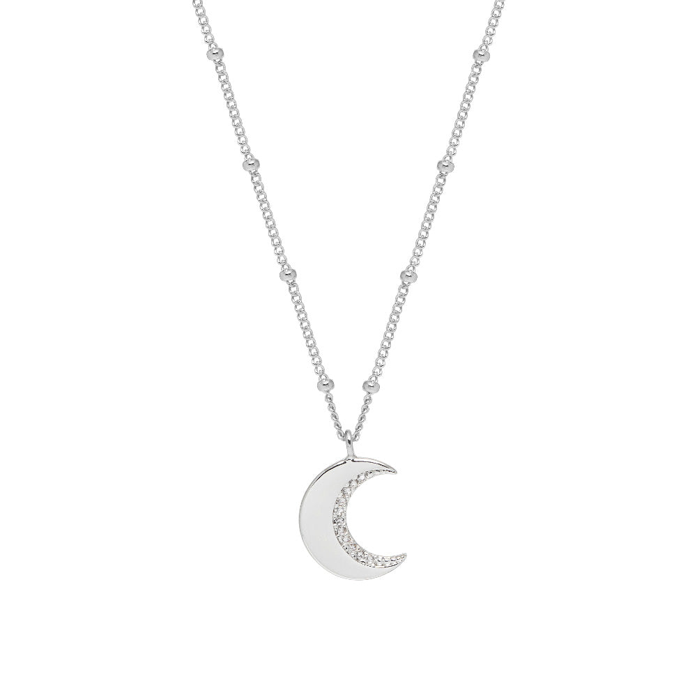 Cubic Zirconia Moon Necklace