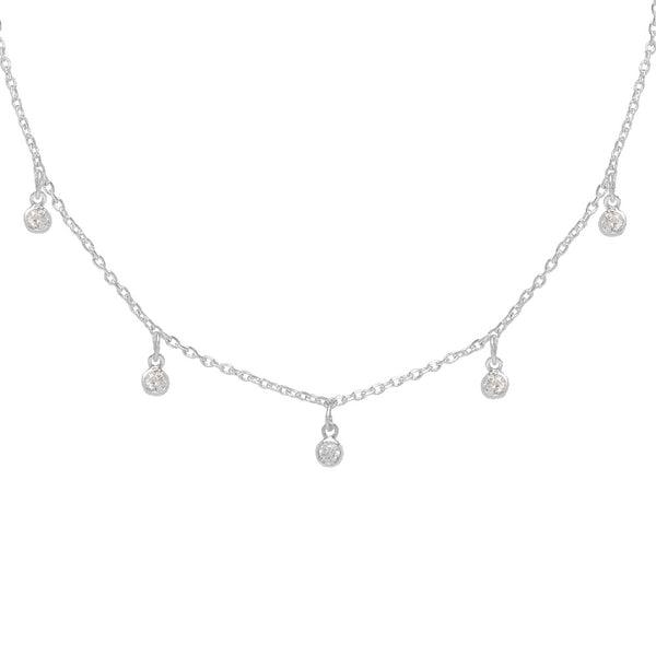 Cubic Zirconia Charm Necklace