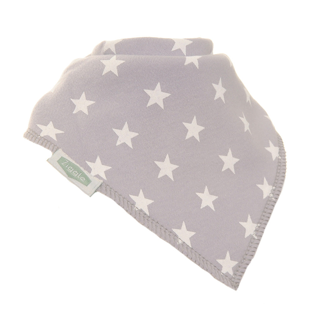 Grey With White Stars Bib