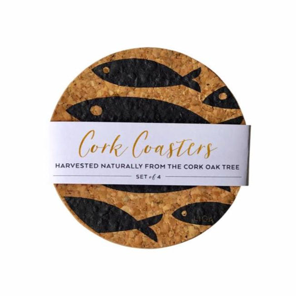 Fish Coaster Grey Set of 4