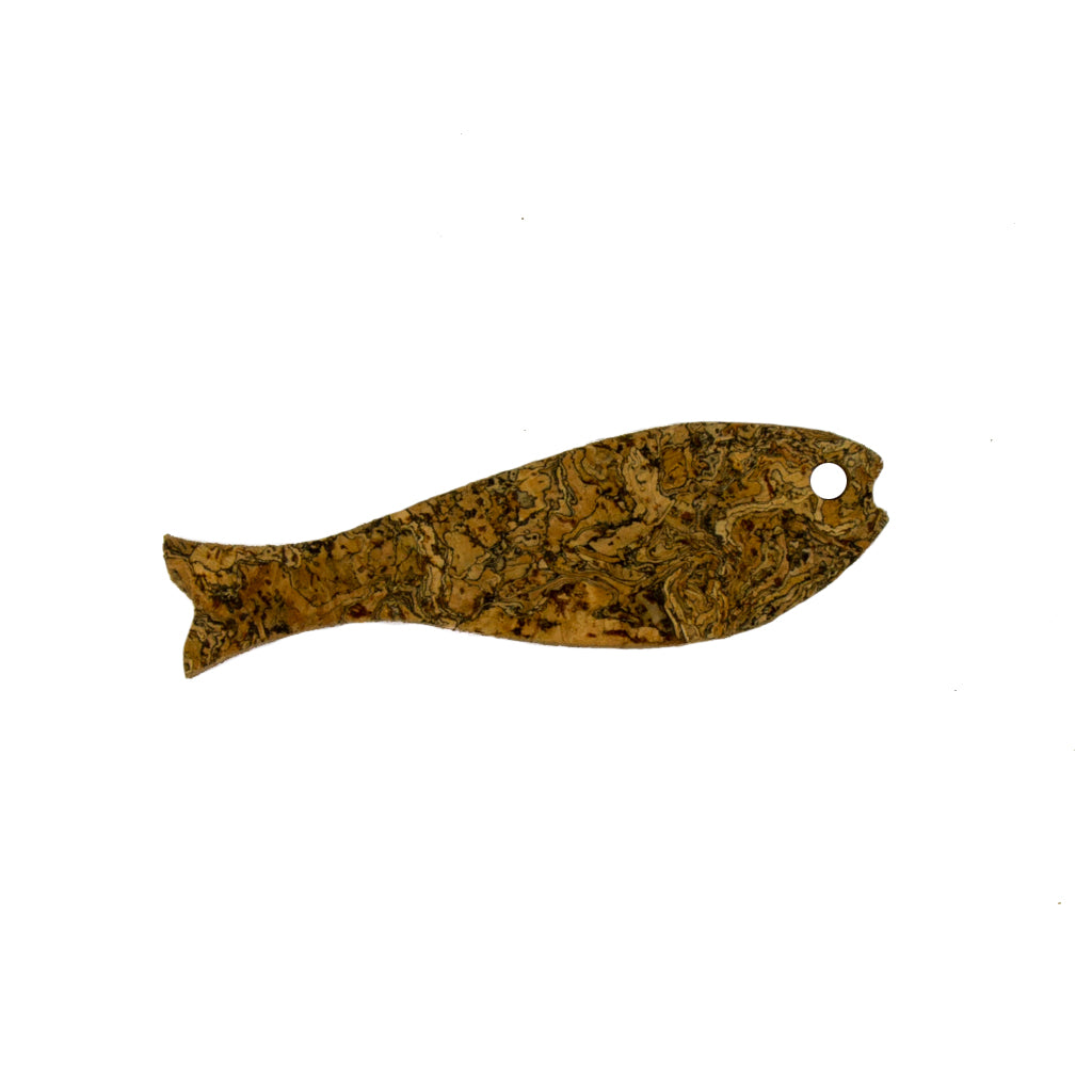 Cork Fish Magnet Ice Grey