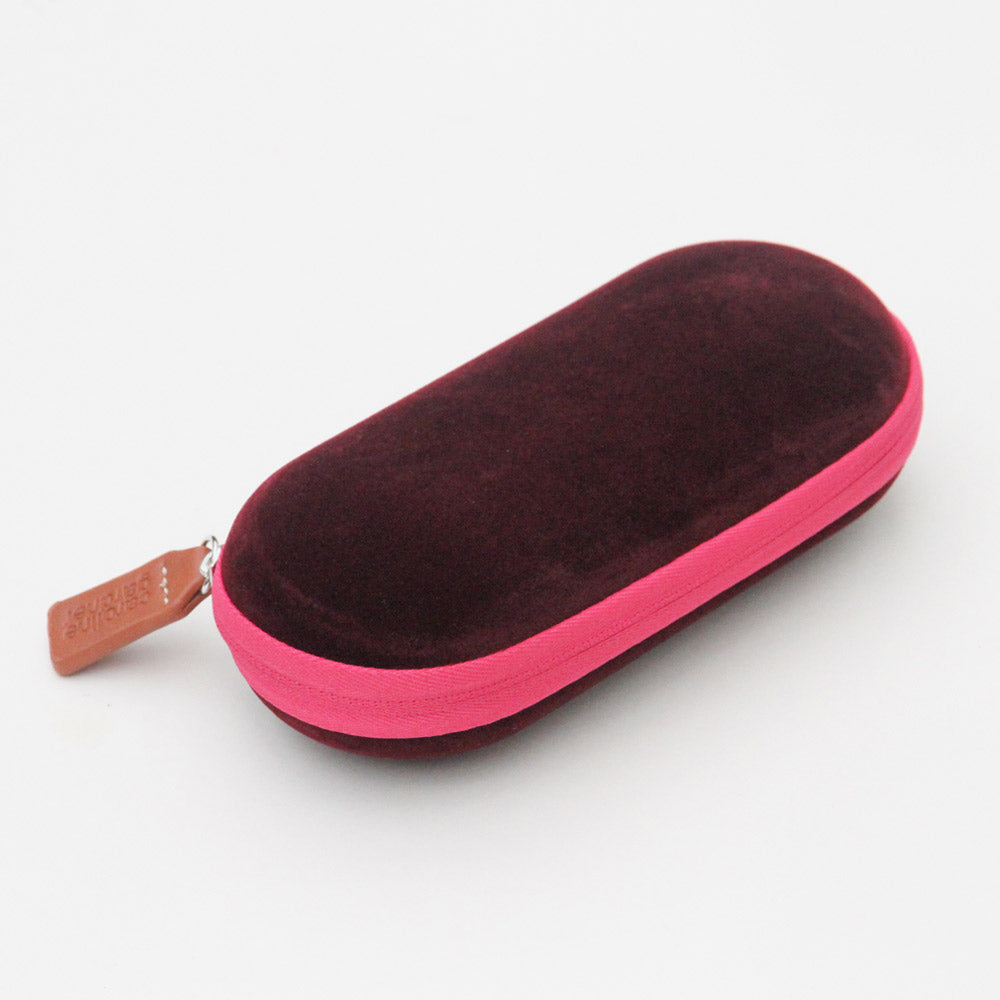 Burgundy Velvet Glasses Case