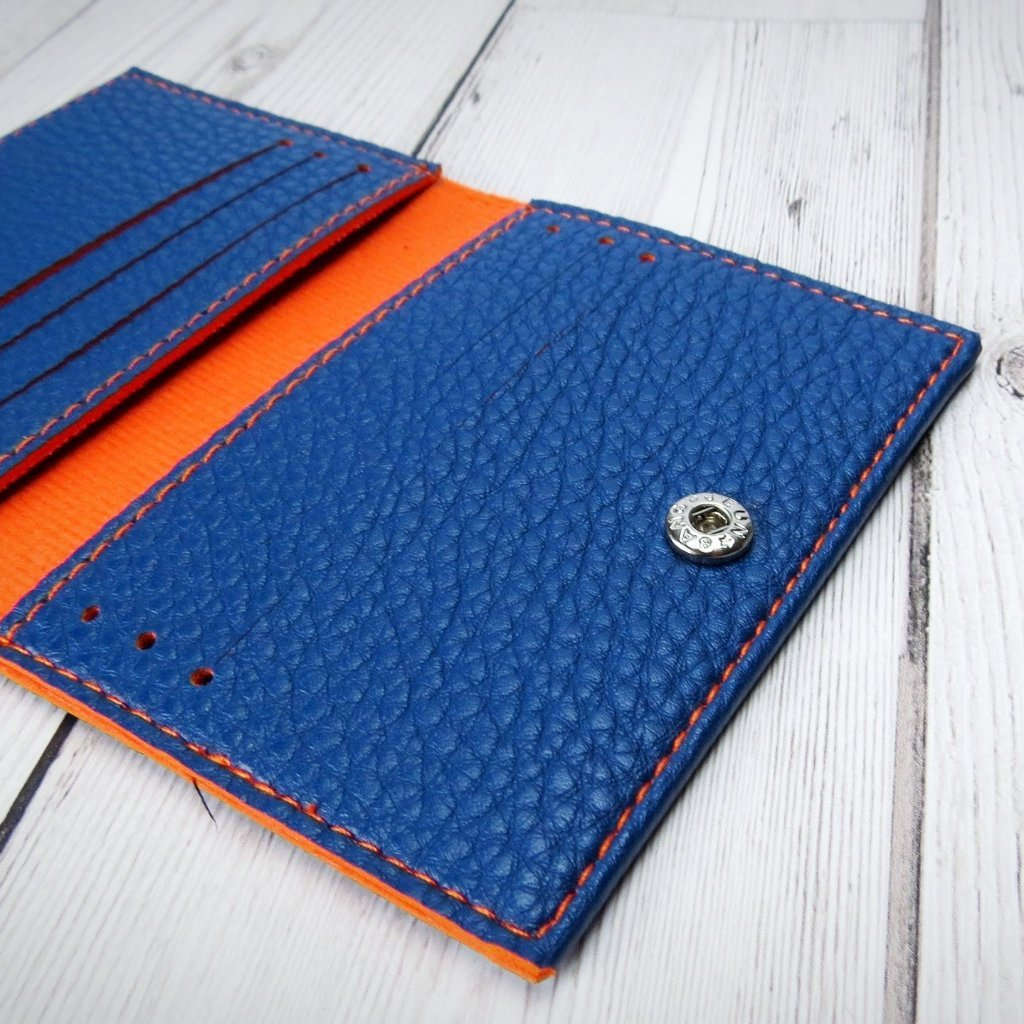 Cape Card Wallet in Navy Blue