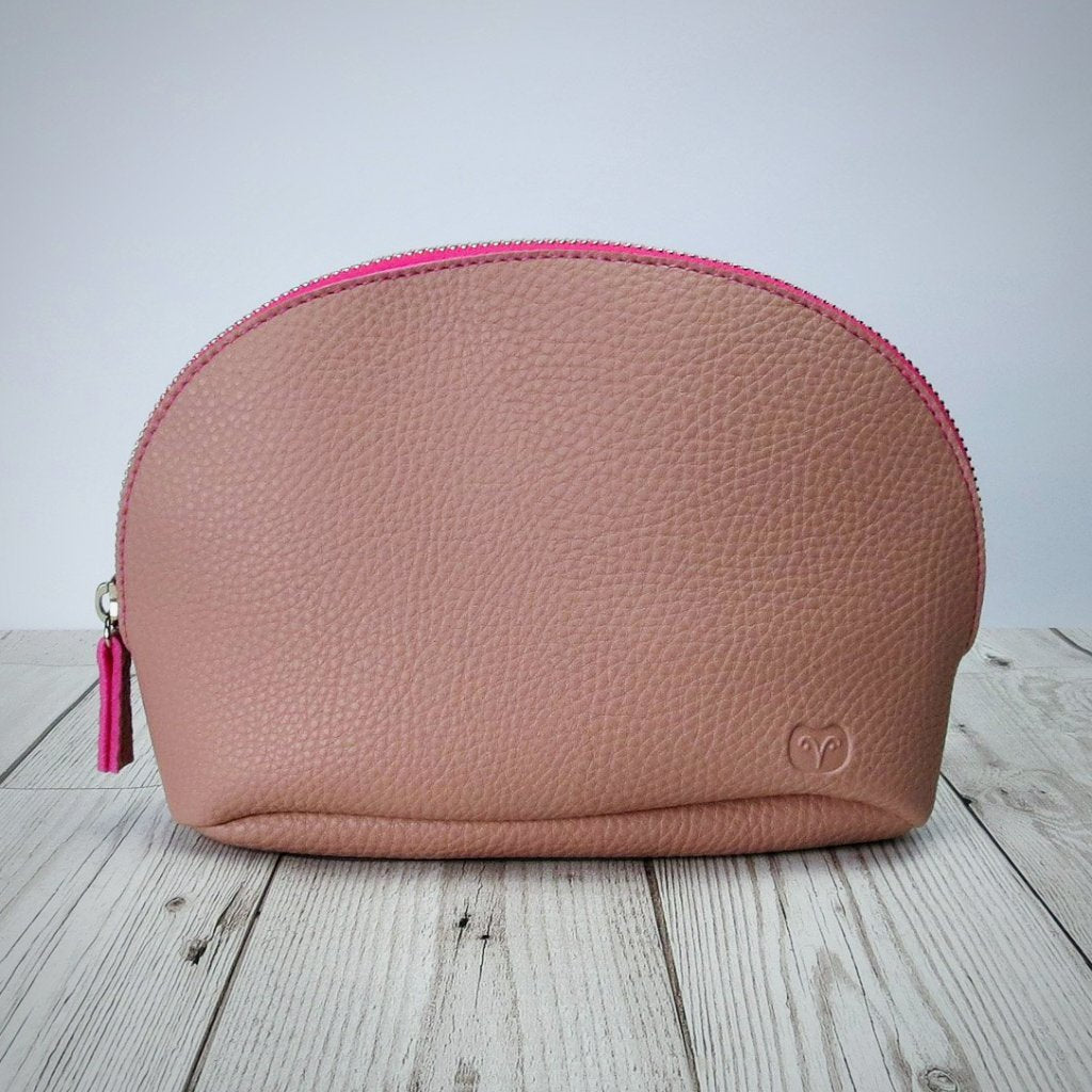 Marsh Makeup Pouch in Pink