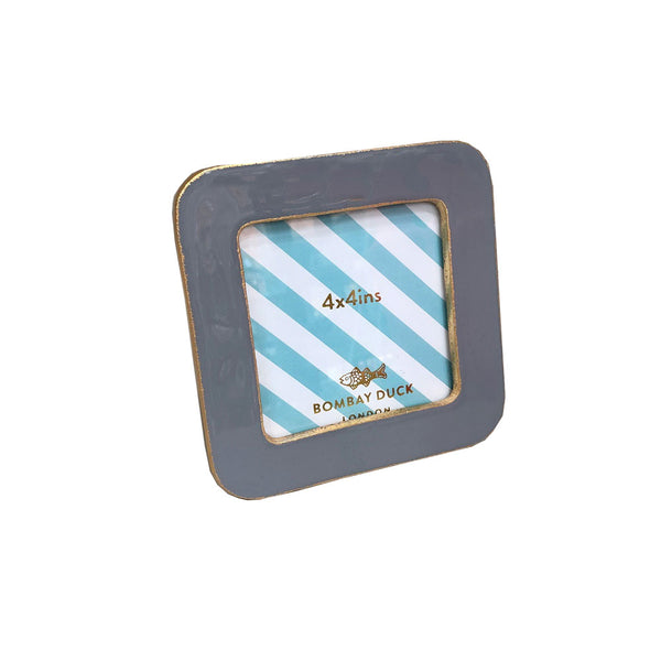 Enamel Bertie Photo Frame - Grey