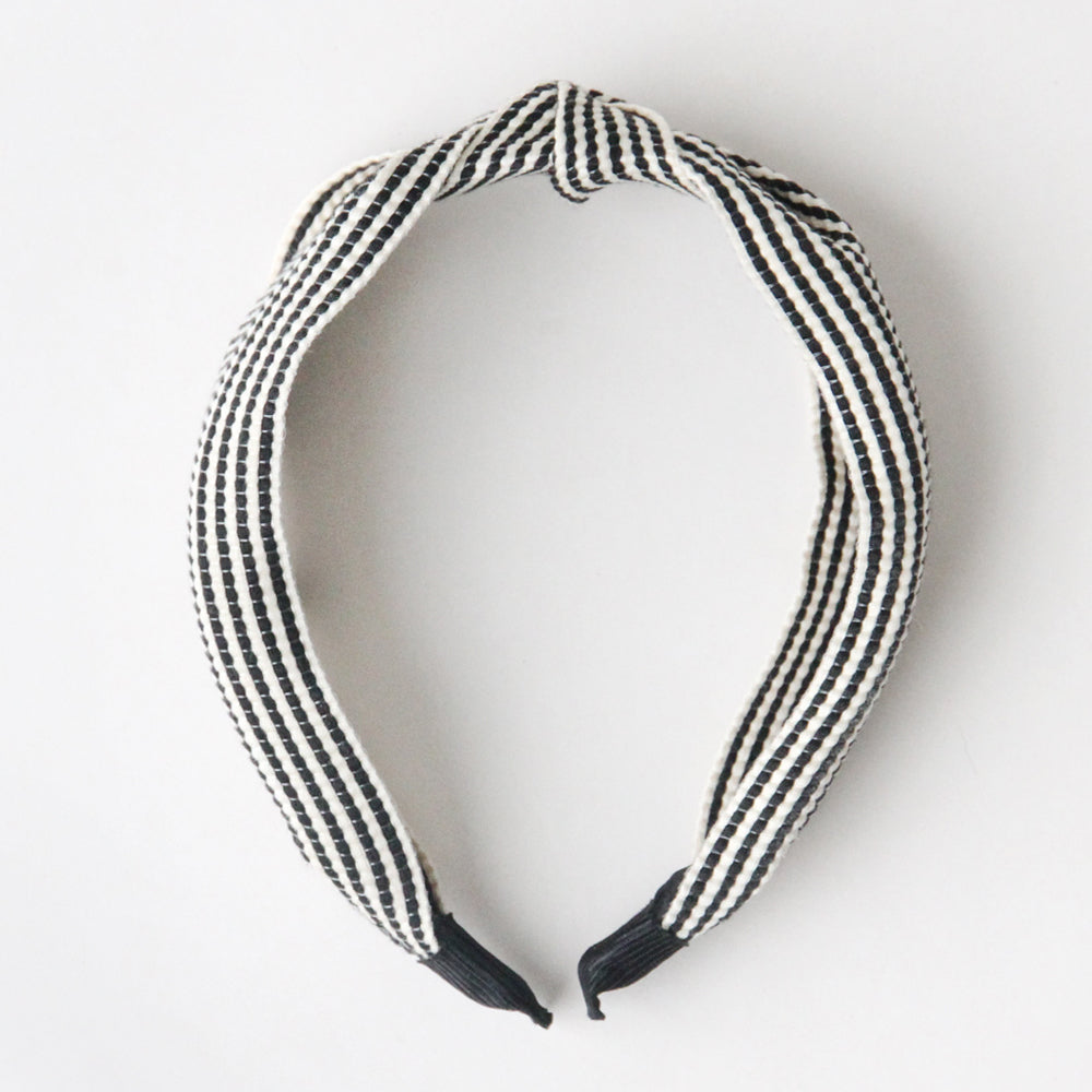 Black & White Stripe Headband