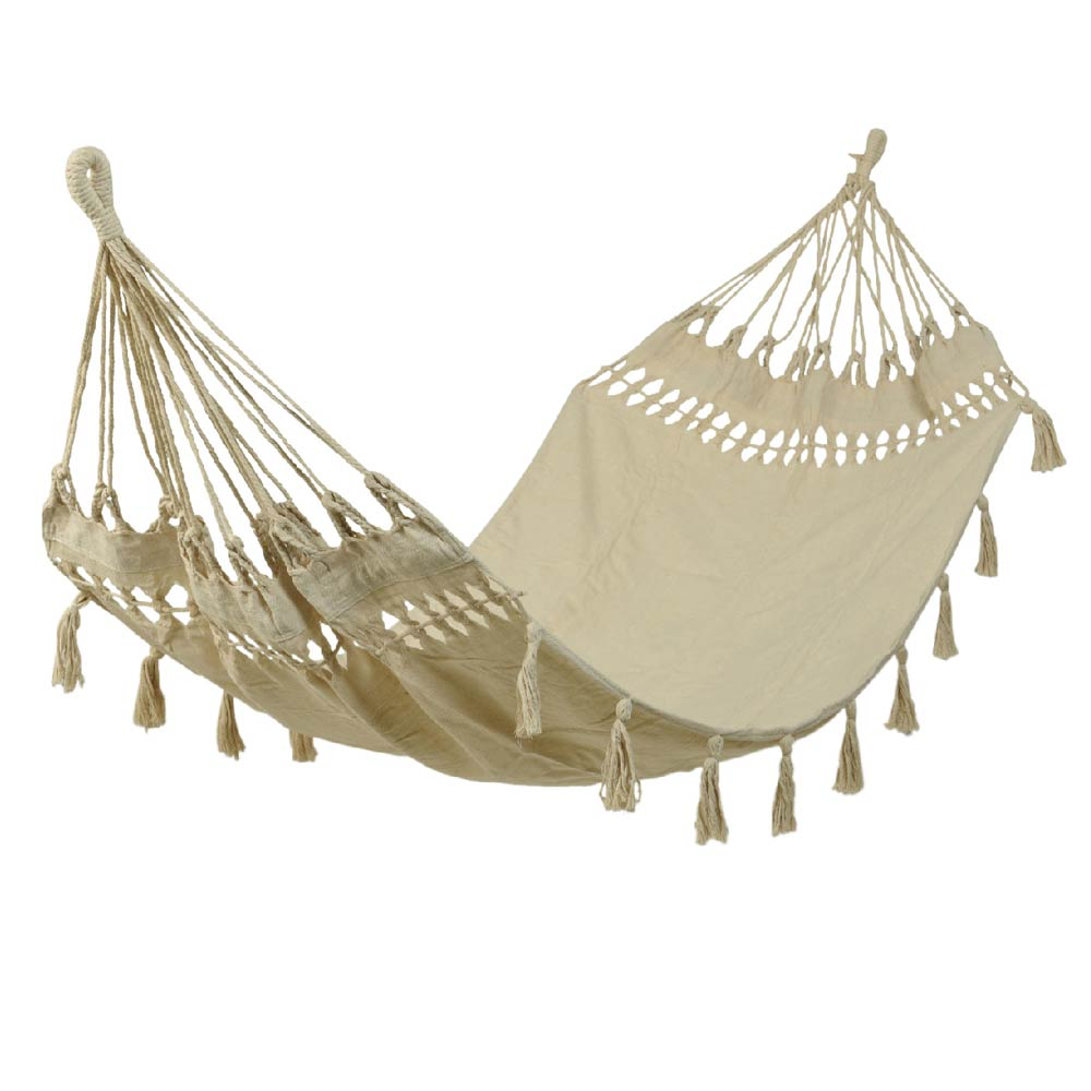 Hammock With Tassels - Cream