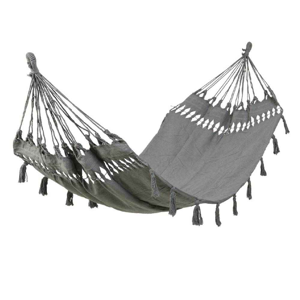 Hammock With Tassels - Grey