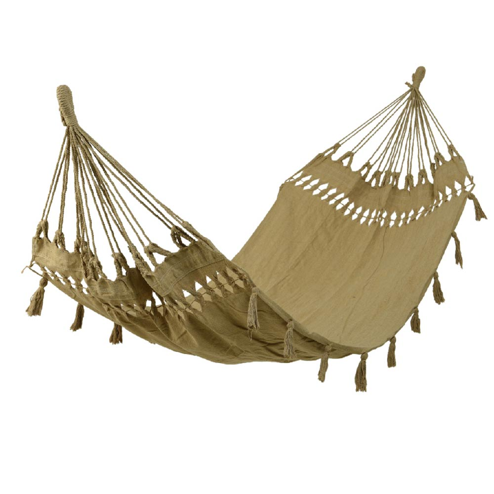 Hammock With Tassels - Sand