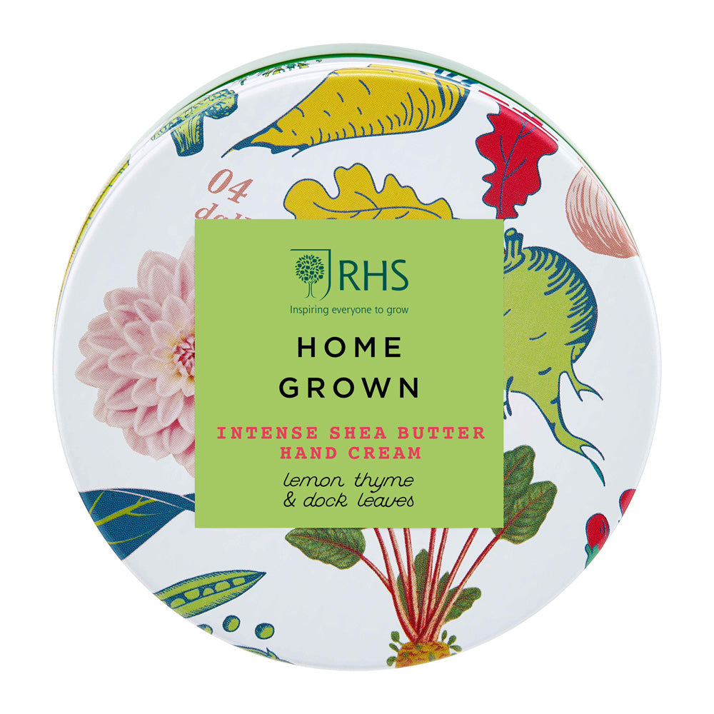 RHS Home Grown - Shea Butter Hand Cream in a Tin