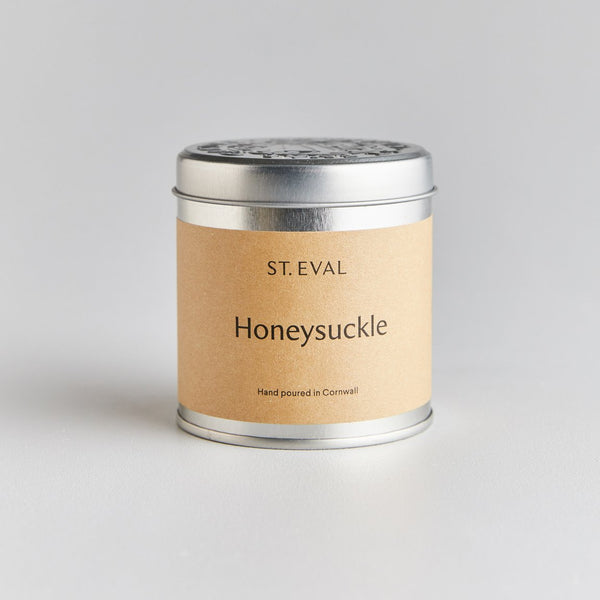 St Eval Honeysuckle Scented Tin Candle
