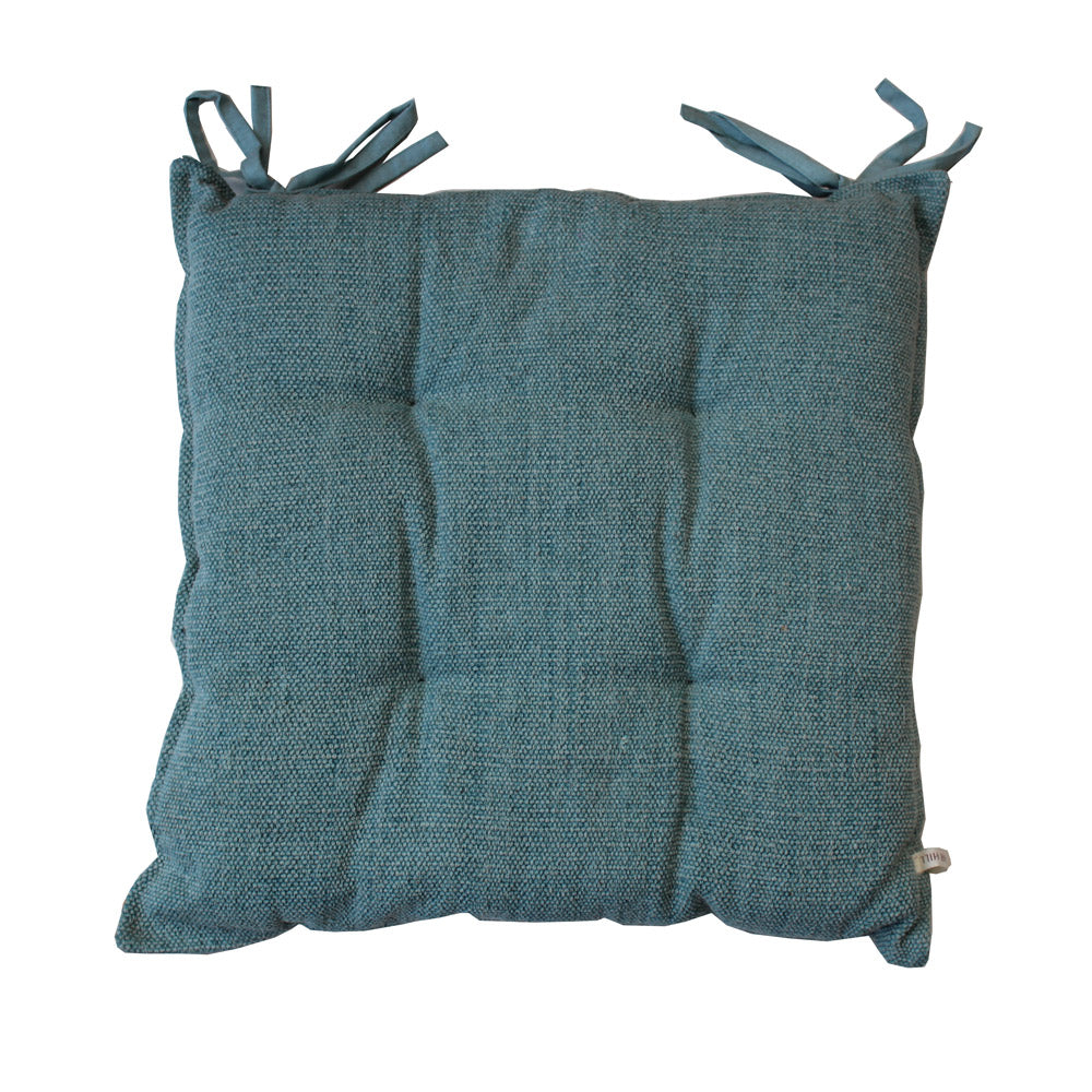 Recycled Cotton Seat Pad in Blue