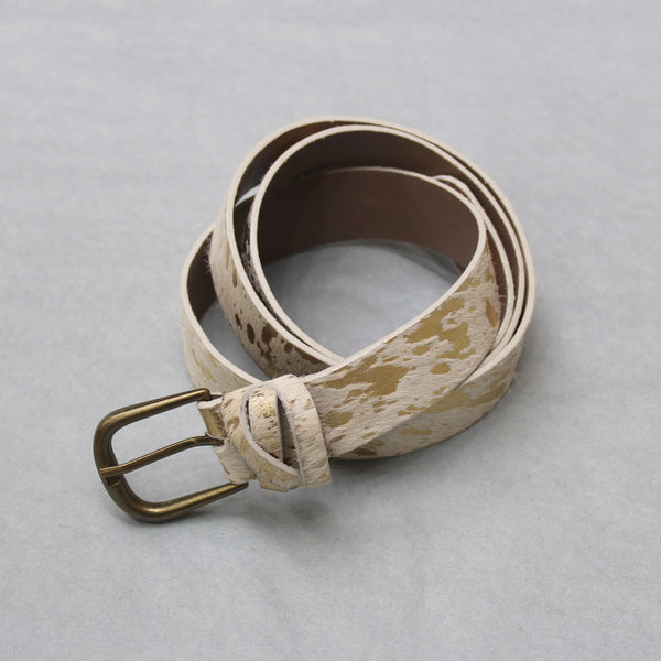 Splash Cowhide Belt