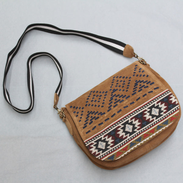 Hand Woven Suede Bag