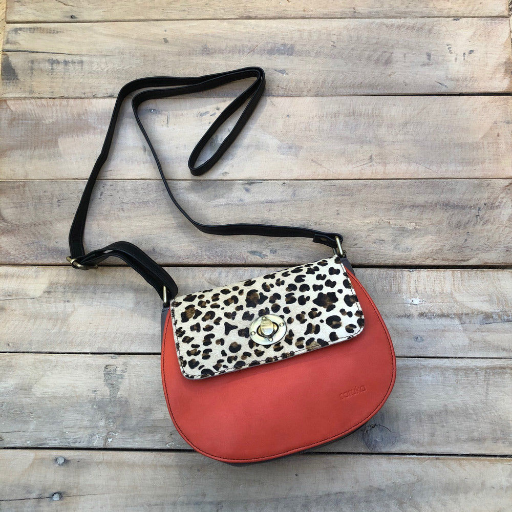 Light Leopard/Orange Bag