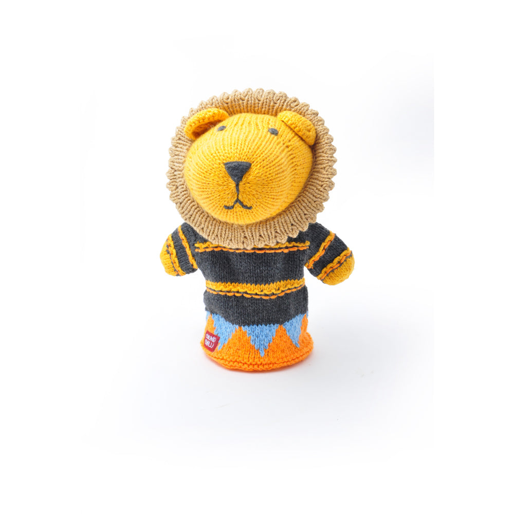 Knitted Lion Hand Puppet