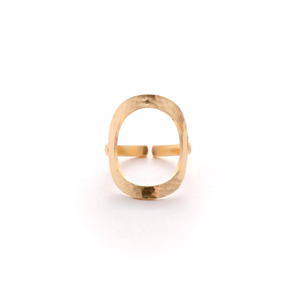 Gold Plated Full Moon Ring