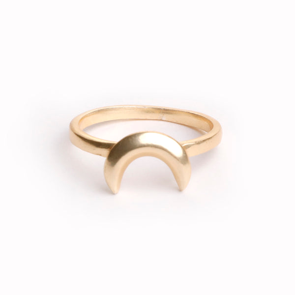 Gold Plated Moon Ring in Small