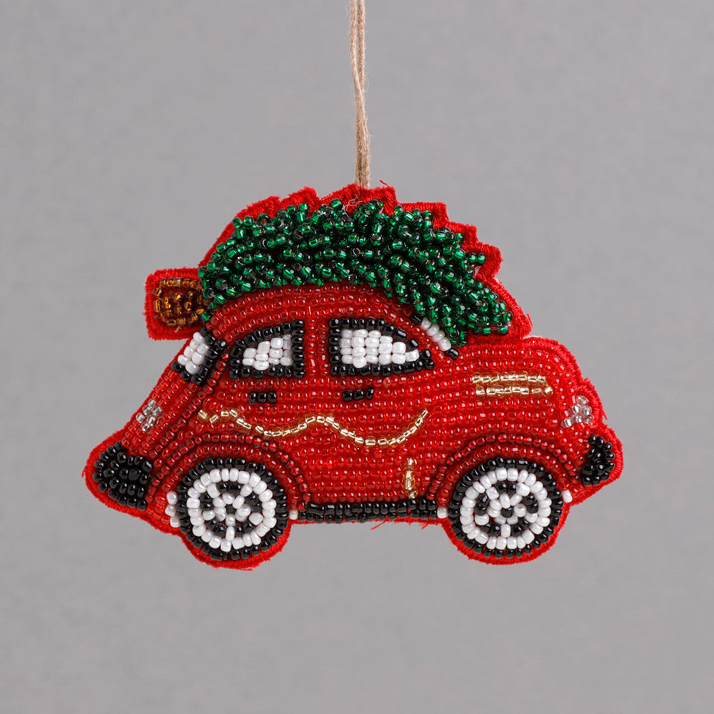 Red Beaded Car Decoration