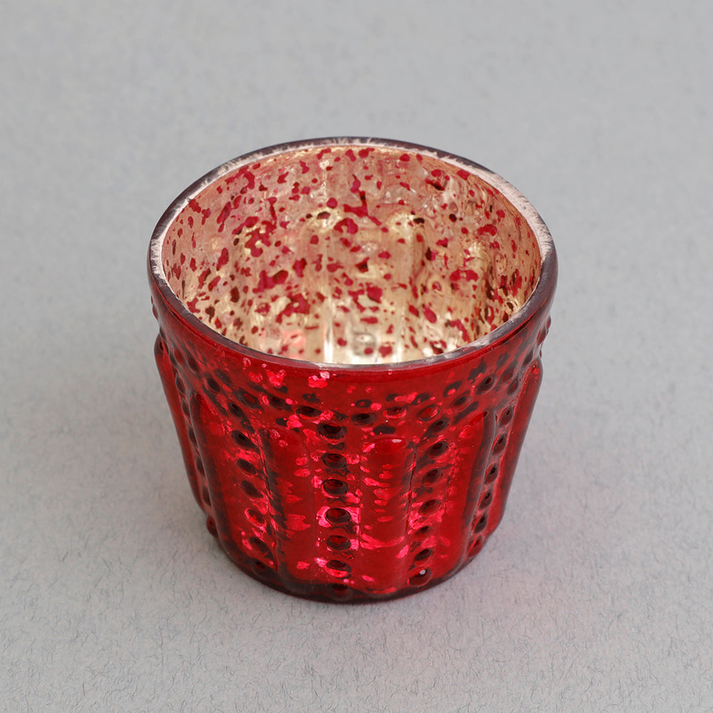 Mini Tealight Holder in Red