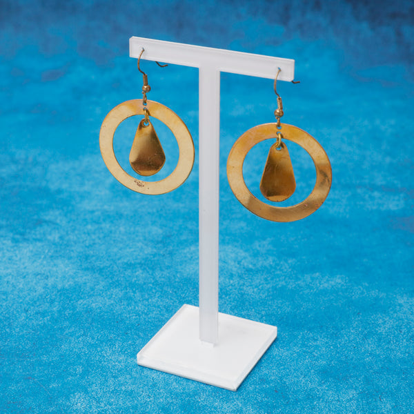 Bronze Circle Earrings