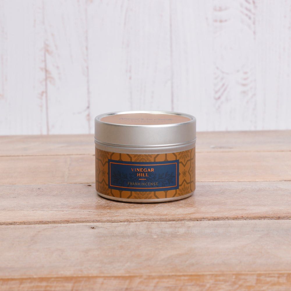 Small Frankincense Scented Candle Tin