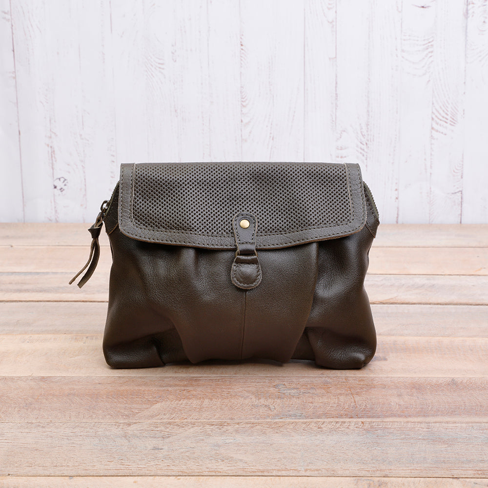 Daisy Olive Green Leather Bag