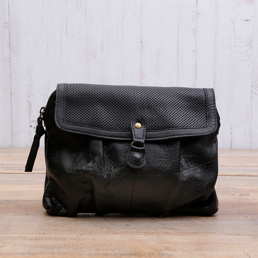 Daisy Black Leather Bag